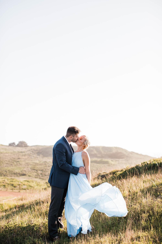 Romantic Marin Headlands Engagement
