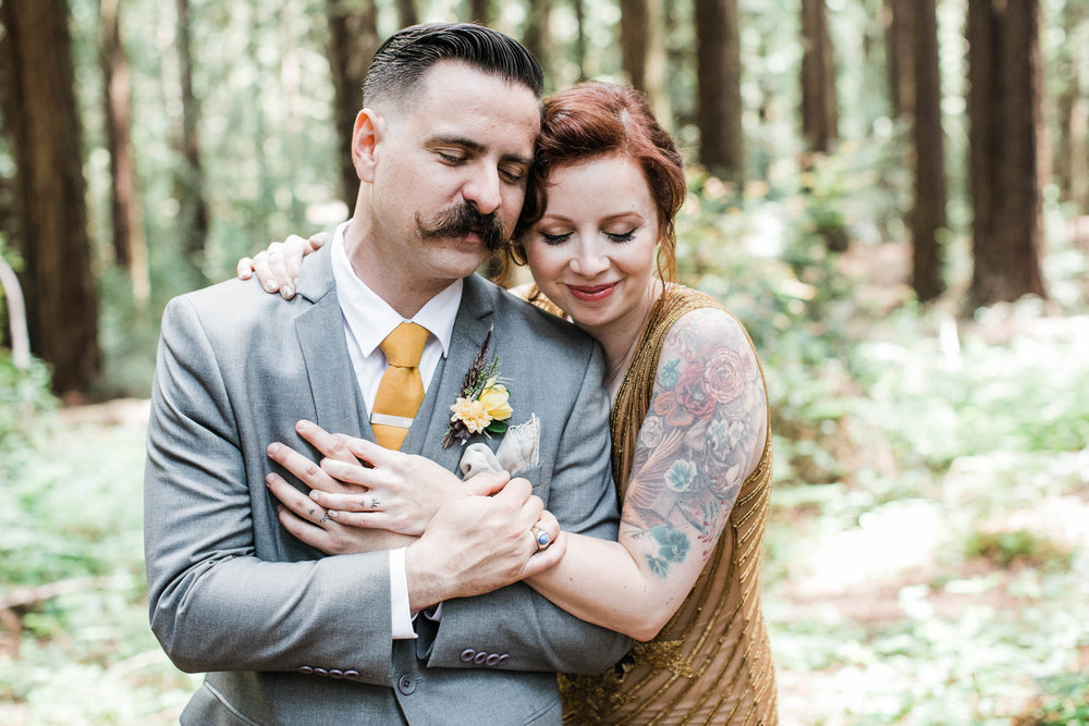 <h3>Oakland</h3>Secluded Redwoods Elopement