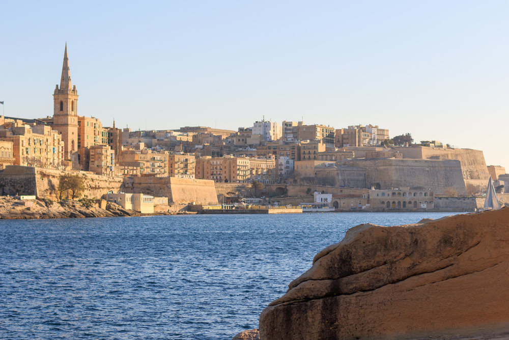 The view of Valletta from Sliema Harbour. Image by Richard Coombs.
