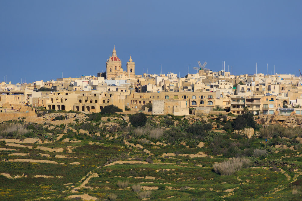View from the Cittadella in Victoria, Gozo. Image by Richard Coombs.