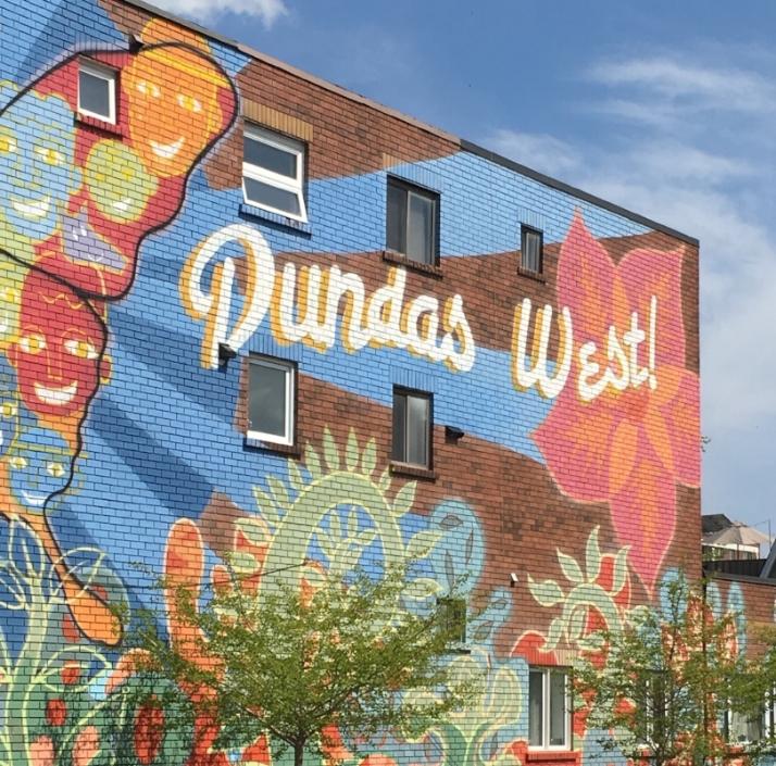 Street art in Dundas west.