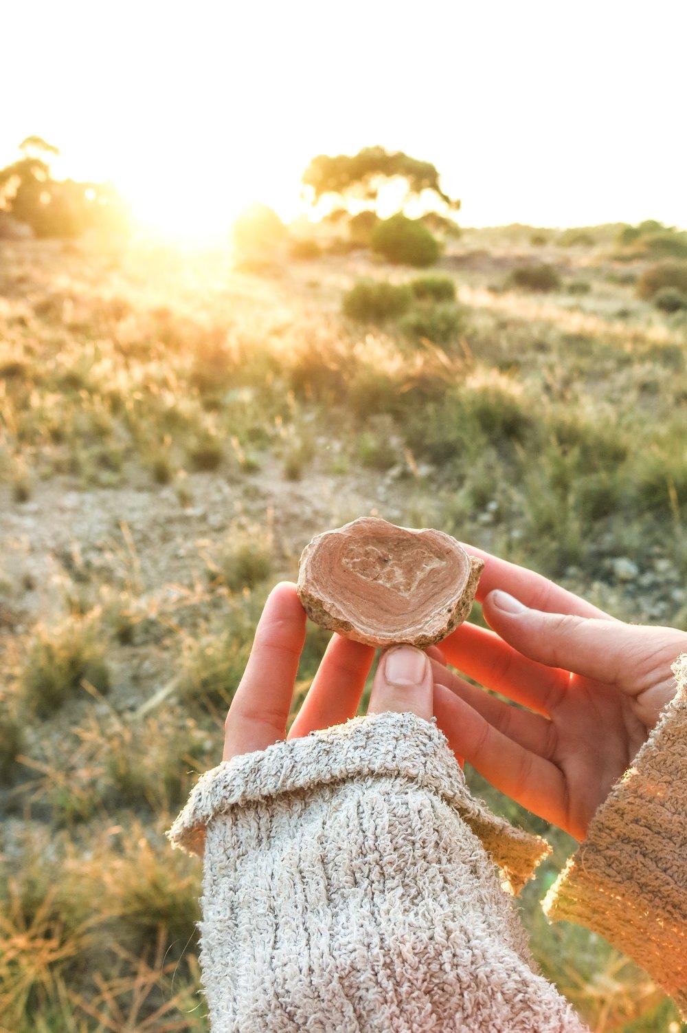 Limestone sunrise