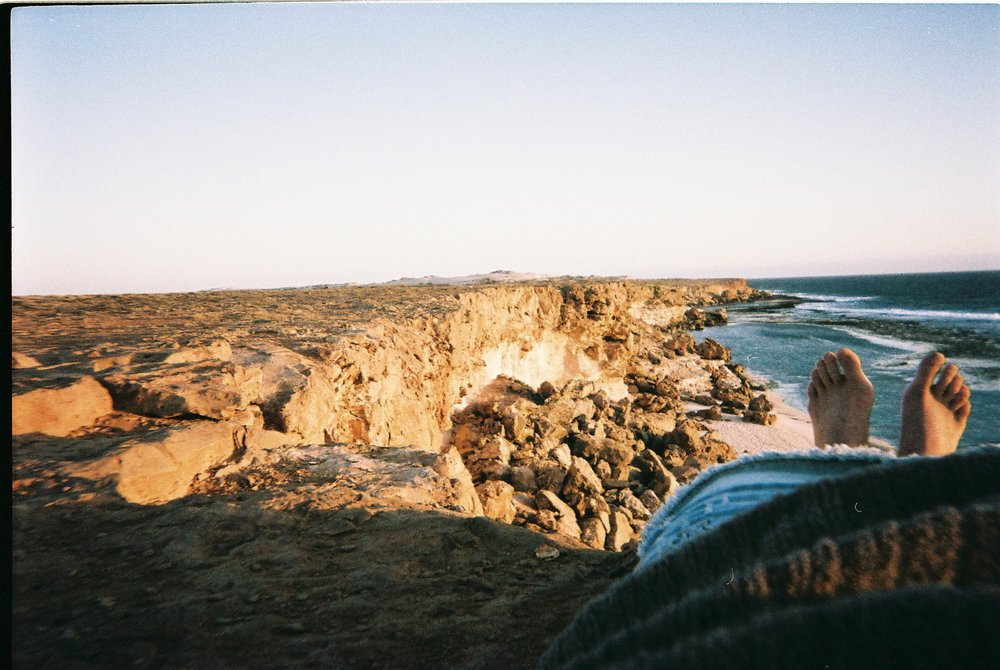 #35mm disposable // Enjoying the last rays. Captivated by this vast crumbling coastline and the abundance of marine life. When it effortlessly takes you 3 hours to explore every nook and cranny in a 200 metre stretch of beach, you know you've got it pretty good