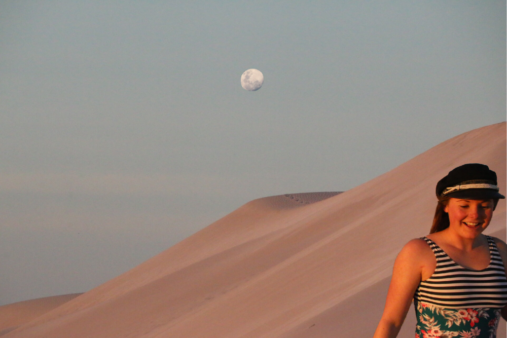 Collage @jemmascott__ // Just me, the moon, and those great undulating dunes