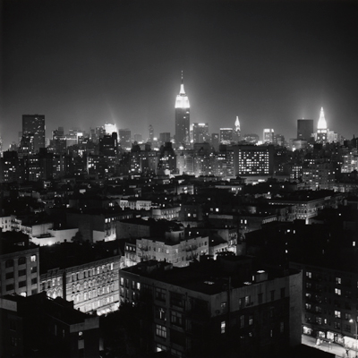 "New York at Night, 1990; Gelatin silver print; 24 x 20"" (61 x 50.8cm); edition of 10, 2 AP; also edition of 3: 30 x 30"" (76.2 x 76.2cm)"