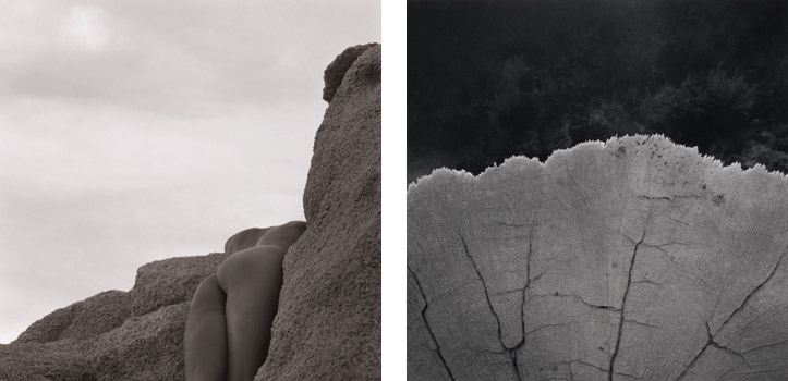 "(L)  Landscape with Nude , 1990; Gelatin silver print; 24 x 20"" (61 x 50.8cm); Edition of 10, 2 AP (R)  Arches , 1993; Gelatin silver print; 24 x 20"" (61 x 50.8cm); Edition of 10, 2 AP"