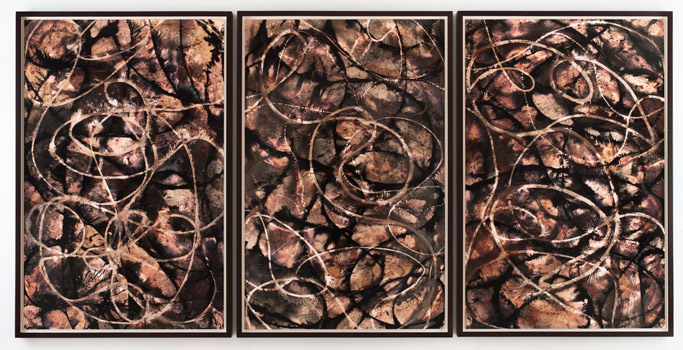 "Variation No. 28, 2011 Gelatin silver prints; Triptych: 64 x 128"" (162.6 x 325.1cm) overall, each panel 64 x 42"" (162.6 x 106.7cm); unique"