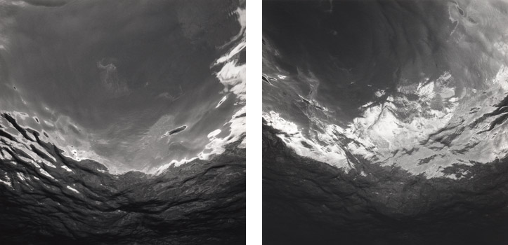 "(L) Water Surface Study, 1992; Platinum print; 24 x 20"" (61 x 50.8cm); Edition of 7, 1 AP; also gelatin silver print edition of 10, 2 AP (R) Water Surface Study, 1992; Platinum print; 24 x 20"" (61 x 50.8cm); Edition of 7, 1 AP; also gelatin silver print edition of 10, 2 AP"