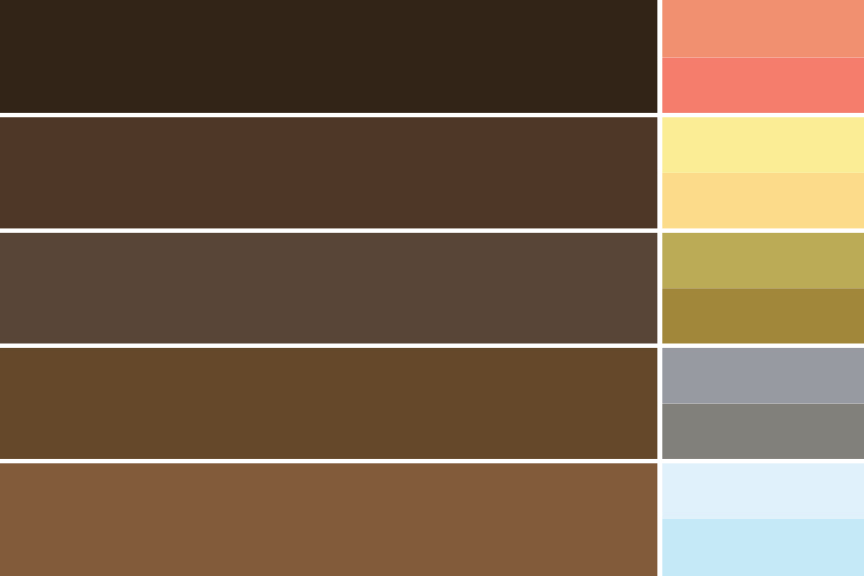 FIG.2: Range of colors pulled directly from Belmont Harbor image.