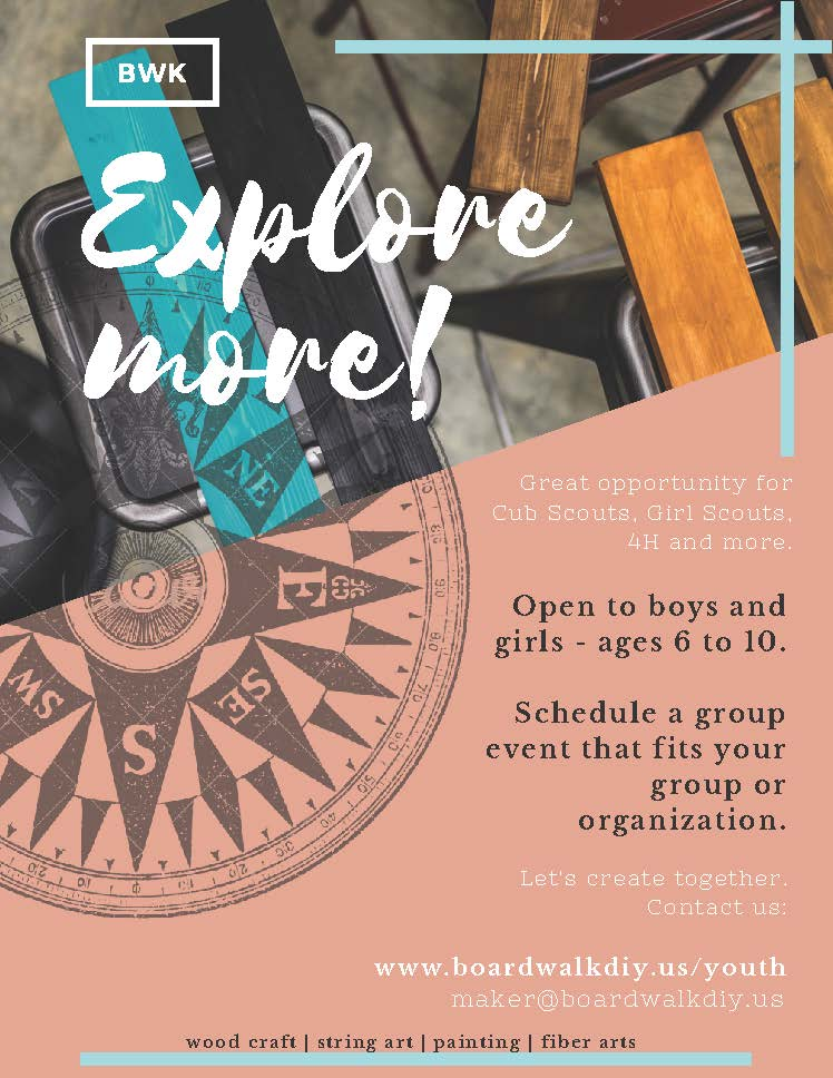 EXPLORE MORE! - Youth Activities at Boardwalk DIY Studio