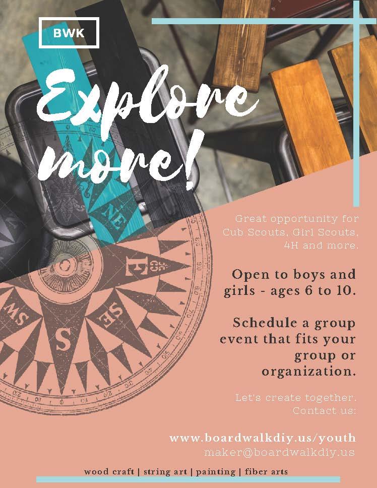 EXPLORE MORE! - Youth Activities at Boardwalk DIY Studio