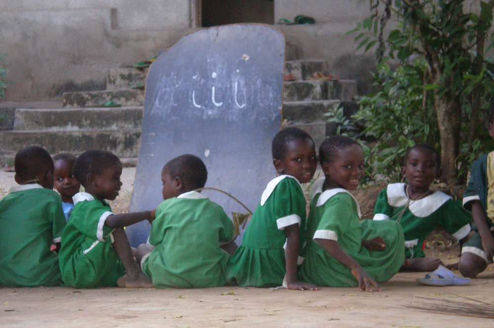 Pre-primary class without a classroom
