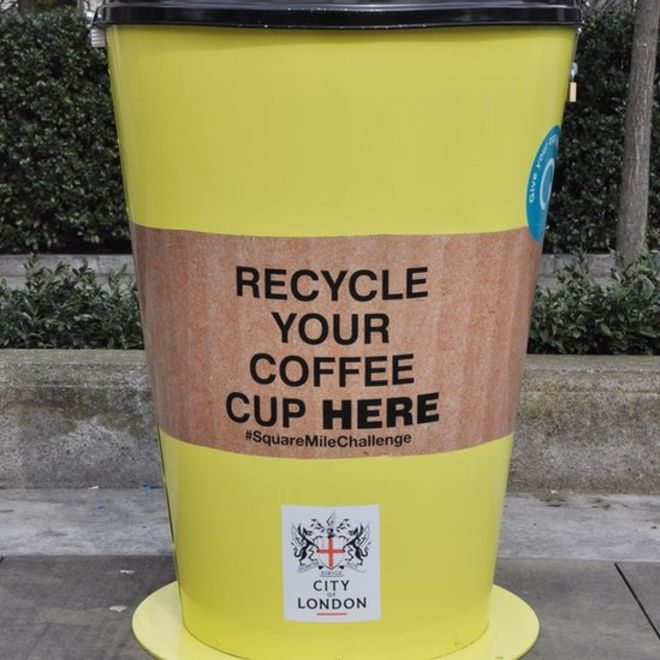 Coffee cup bin for the square mile challenge