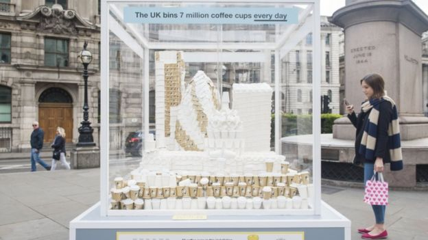 Coffee cup wastage in London