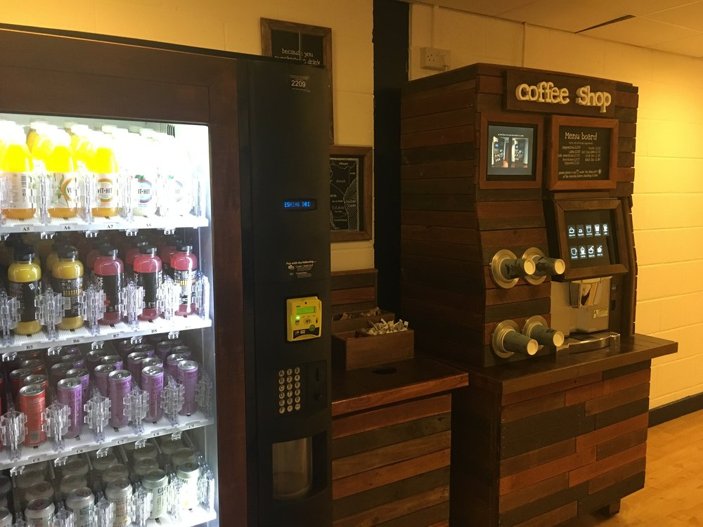 vending machine - upcycled pallet wood