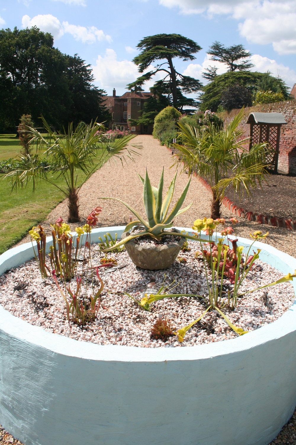 Pine Tree creation at foot of border.JPG