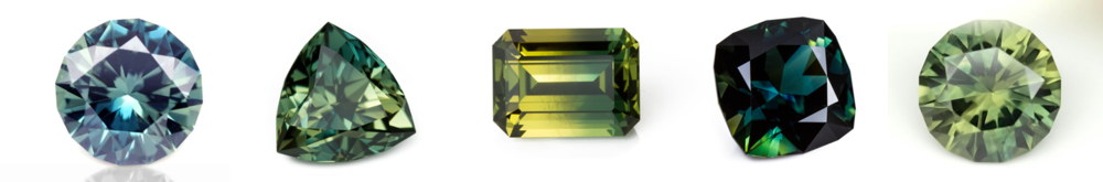 Green sapphires can rarely meet the saturation level of stones such as Emerald or Tsavorite garnet, but their colour is attractive in its own right, and can offer a lower cost alternative to someone who wants a natural sapphire but not the hefty price tag. Photo credit: Bespoke Gems and Opaline Gem Art