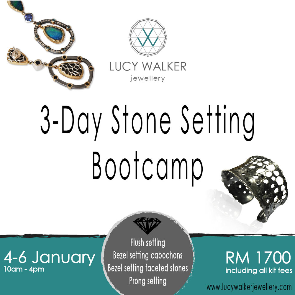 Stone setting bootcamp jewellery design