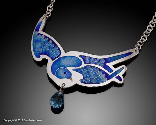 """Messenger"" necklace by  Sandra McEwen"