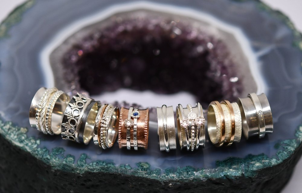 Student spinner rings from week 2