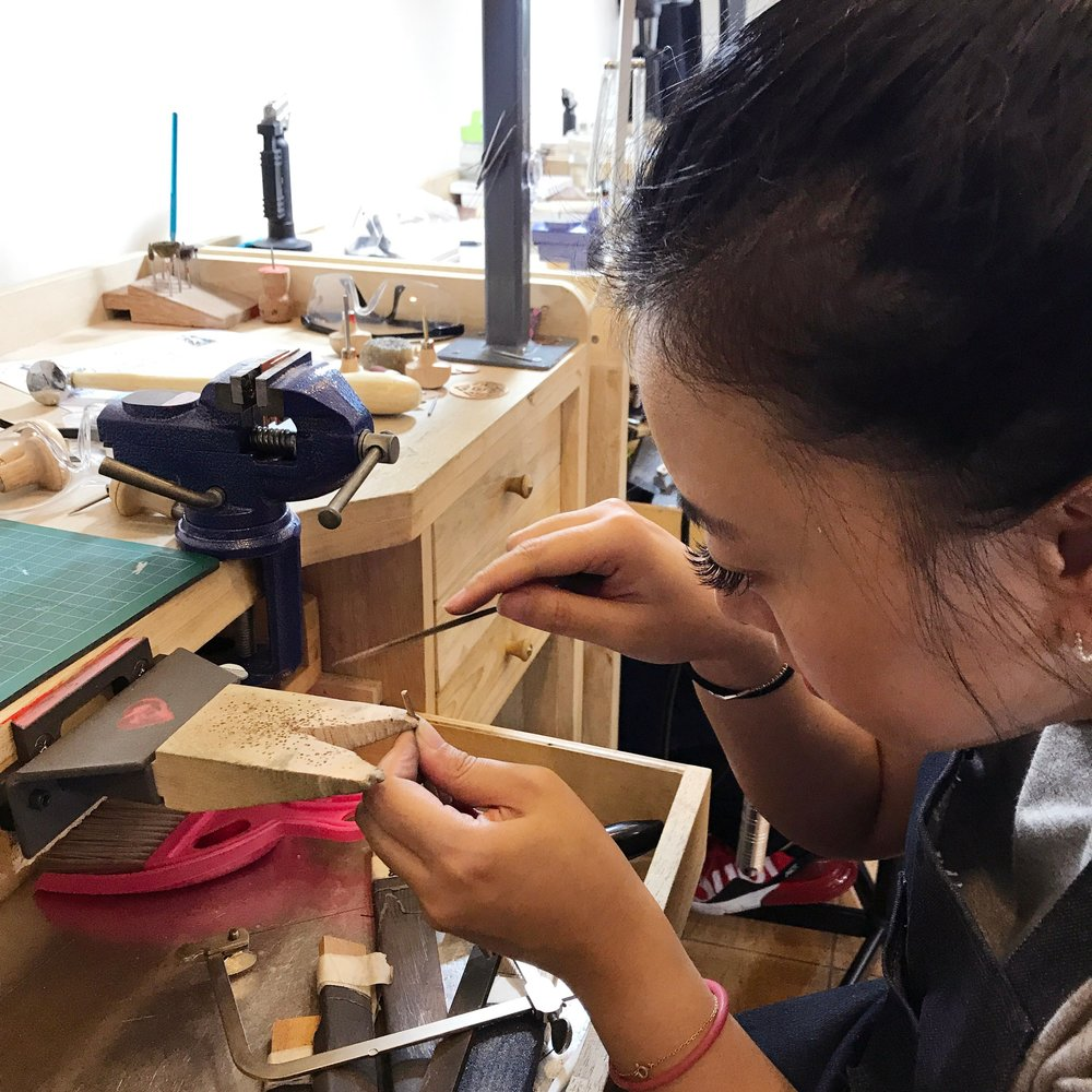 Our jewellery workshop is open for members Monday to saturday 9am to 7pm