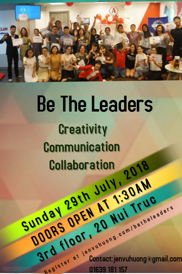 Join 'Be The Leaders' - 2nd season on 29th July