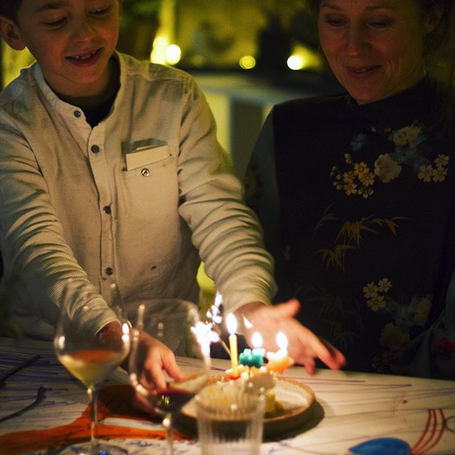 Spécial #birthday @belafonte.paris with Chef Joachim Z. thanks @clem.laine.malinow @catalina_laine @mateo_garcia_escabo #candle #drawing #saturdaynight
