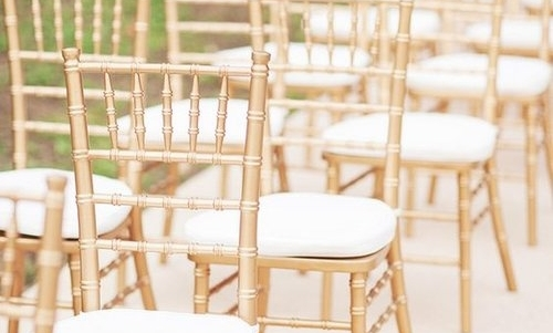 GOLD TIFFANY CHAIRS -