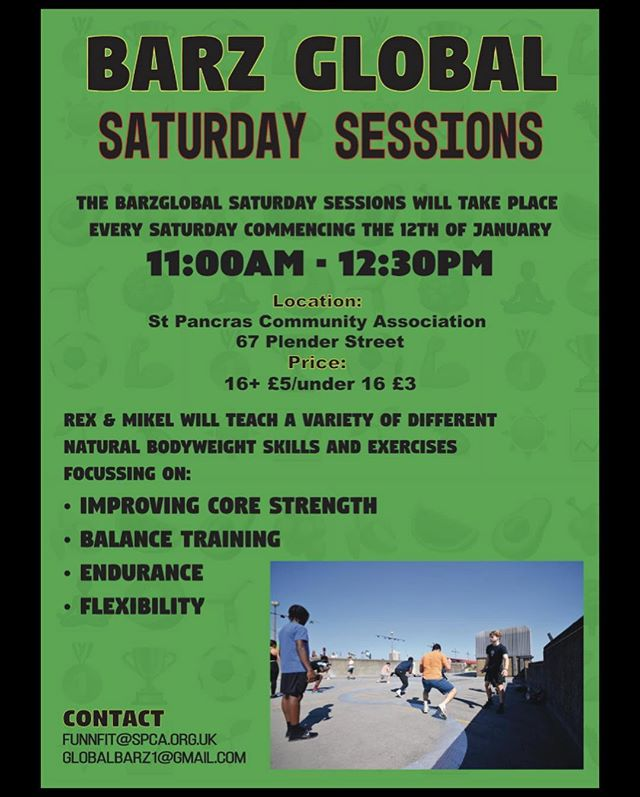 🔔 🚨 NEW CLASS ALERT 🚨 🔔  BarzGlobal Saturday Session  Time: 11-12:30  Run by Rex & Mikel  Location: SPCA - NW1 0LB  Price: 16+ £5/under 16 £3  www.barzglobal.com 👆🏾🔋👇🏾 #OSUYEE #BarzGlobal