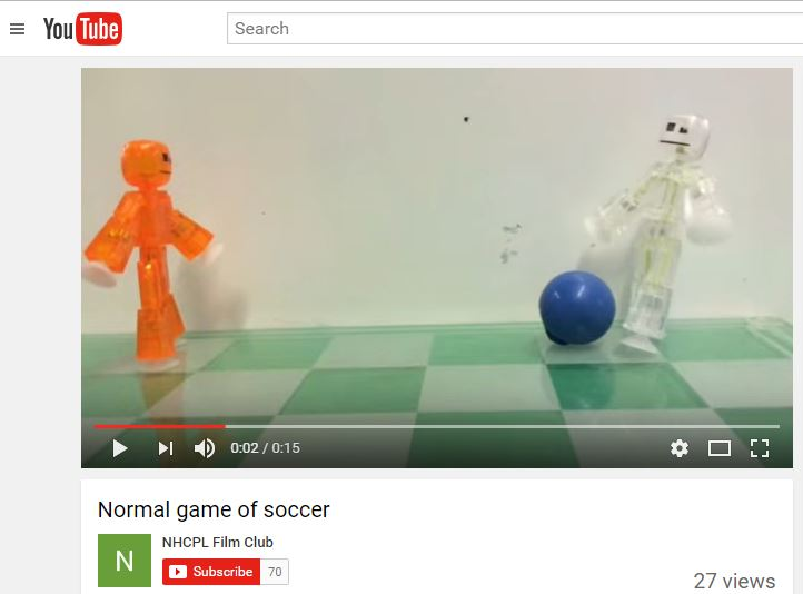 Stop-motion animation of StikBot figures