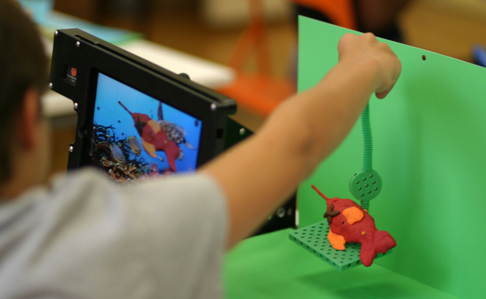 The Light Factory, a museum of photography and film, offers week-long half-day animation summer camps for youth. ReadyANIMATORs allow students to bring their stories to life using techniques like clay animation combined with green-screen technology.