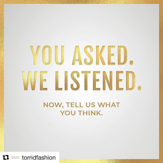 """Yes!  #Repost @torridfashion ・・・ We're proud to announce that Torrid.com now features a diverse size variety of models in select styles and categories. So you don't have to wonder, """"What would that outfit look like in my size?"""" anymore.  #OneSizeDoesNotFitAll #TorridFitsMe #Fashion #Style #PlusSizeFashion #FitModel"""