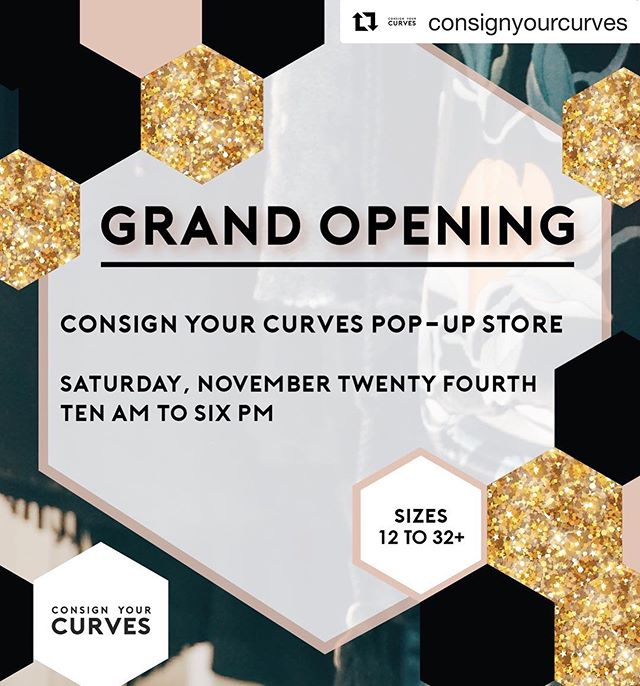 Come and check out the Grand Opening of @consignyourcurves!!! #Repost @consignyourcurves ・・・ GRAND OPENING  of #ConsignYourCurves at 18 Wilson St @down this Saturday!  Come out and shop!! We will have some tasty food as well as a special giveaway announced on Friday! Look forward to meeting more of you awesome ladies! . . . . . . . . . . . . . . . . . . #WeTheCurvy #StyleHasNoSize #guelphproud #curvy #cautioncurvesahead #shoplocal #supportlocal #consignment #grandopening
