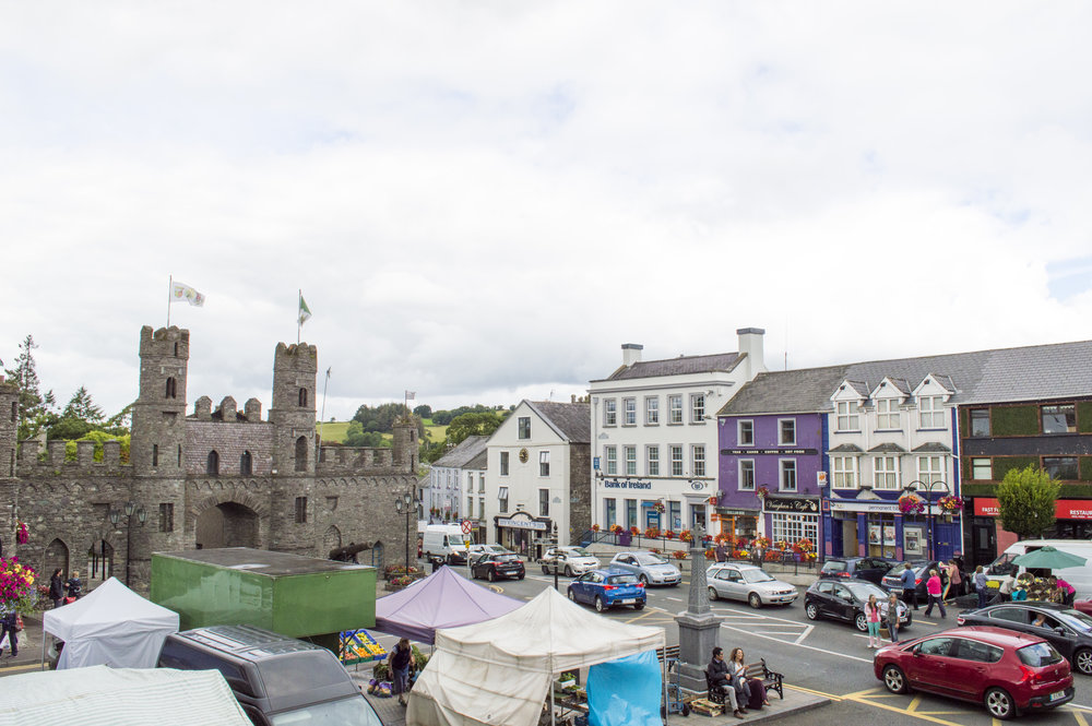 this is the center of macroom, where we were staying with gobnait and sean