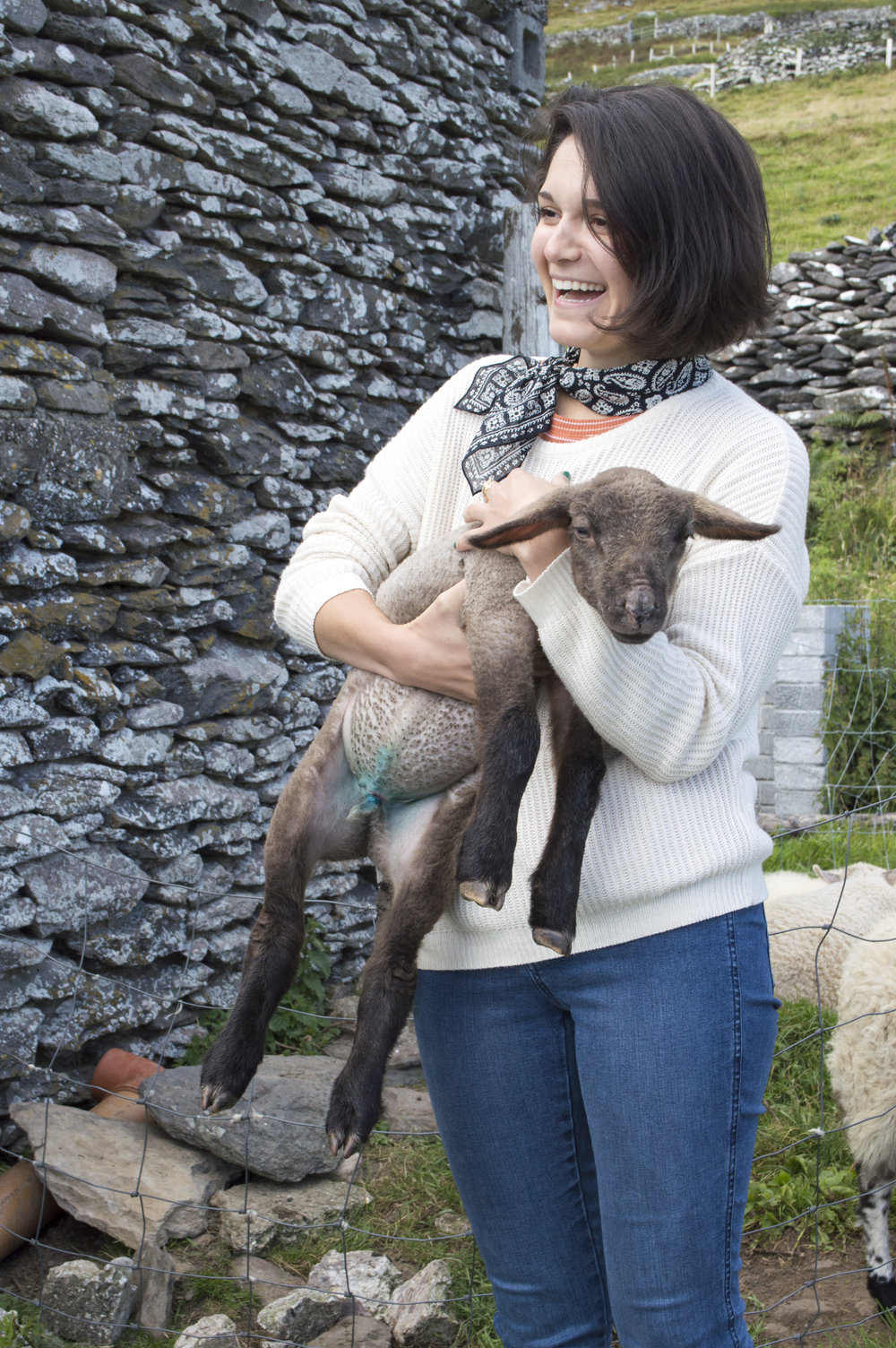 tina was super excited about the lambs too!