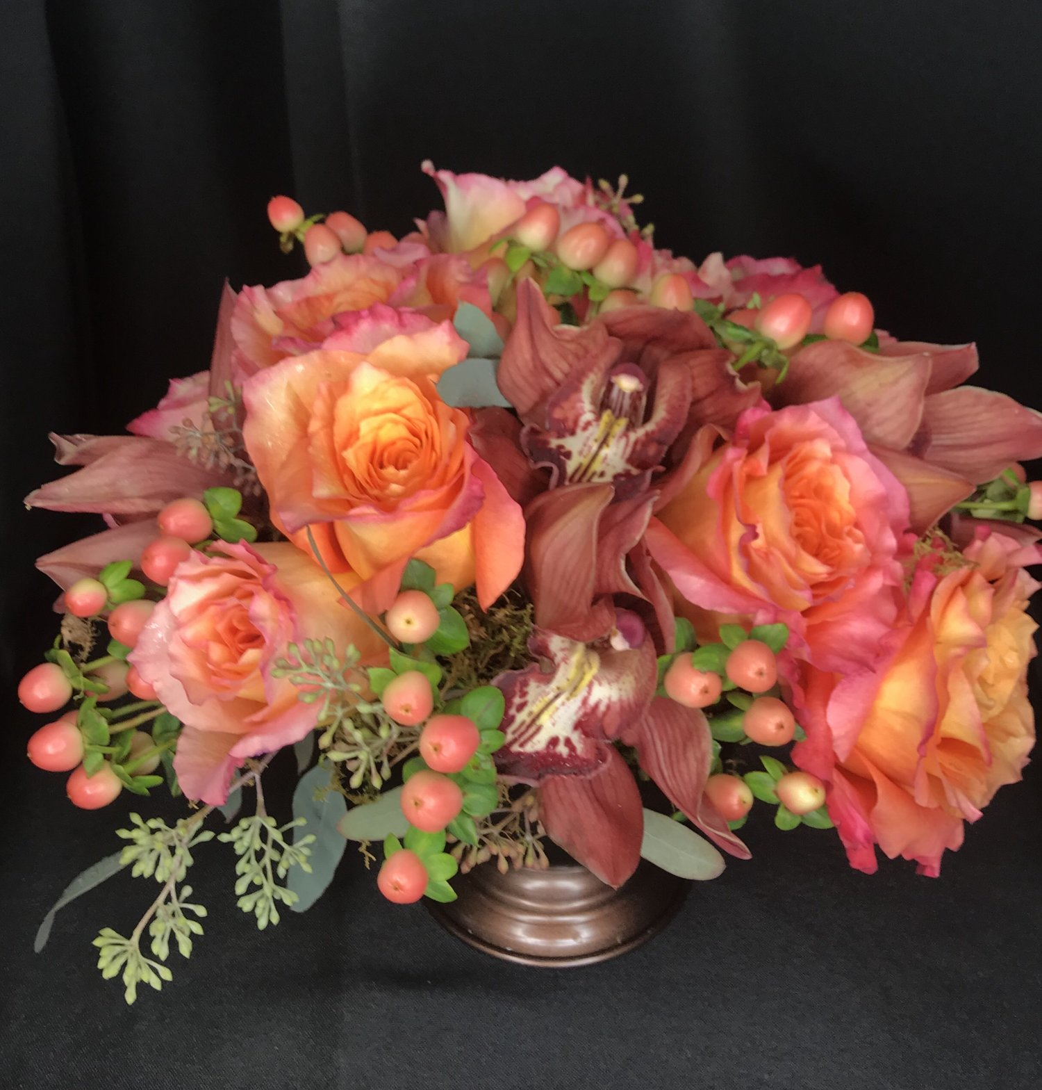 Pink And Peach Boho Flower Arrangement