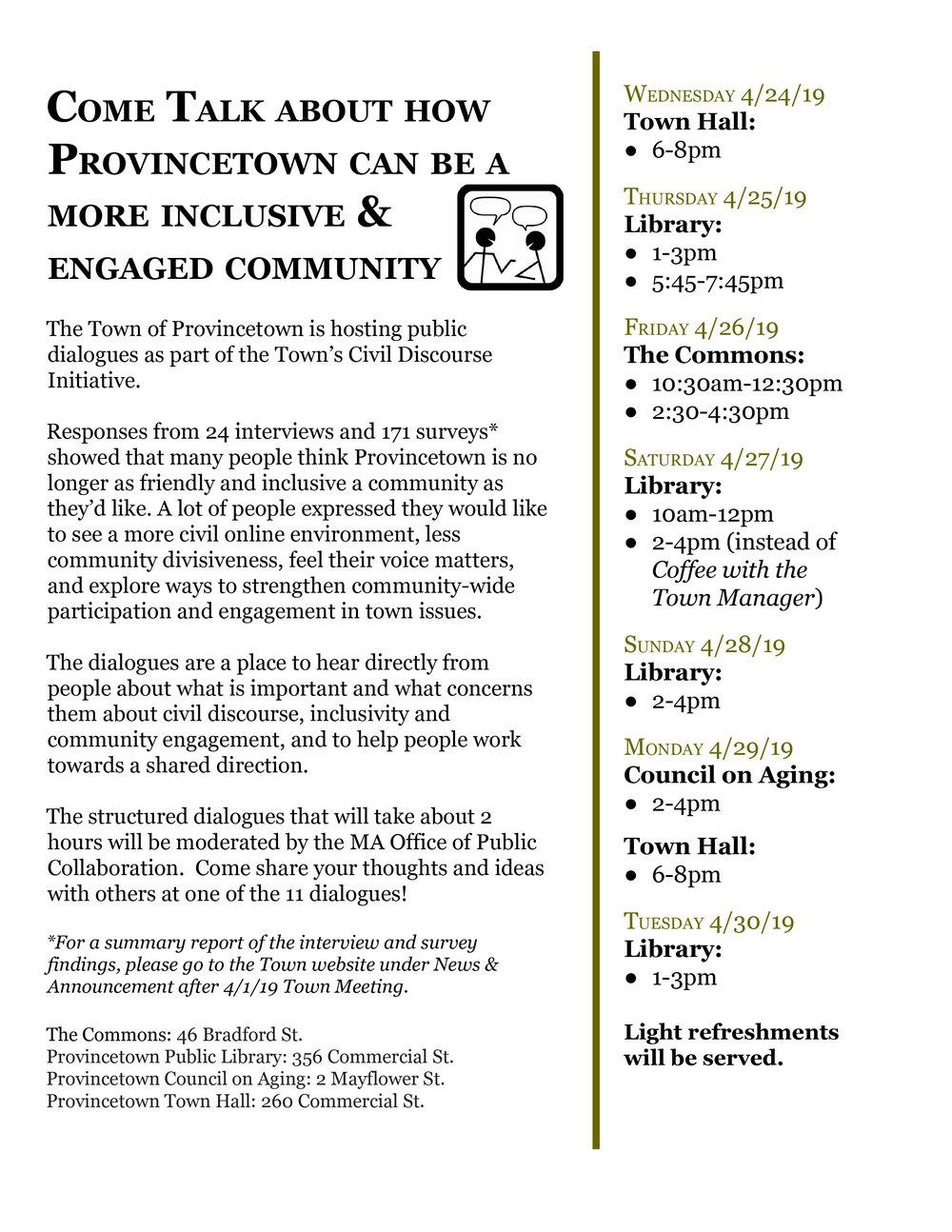 Provincetown Civil Discourse Dialogues.Flyer.jpg