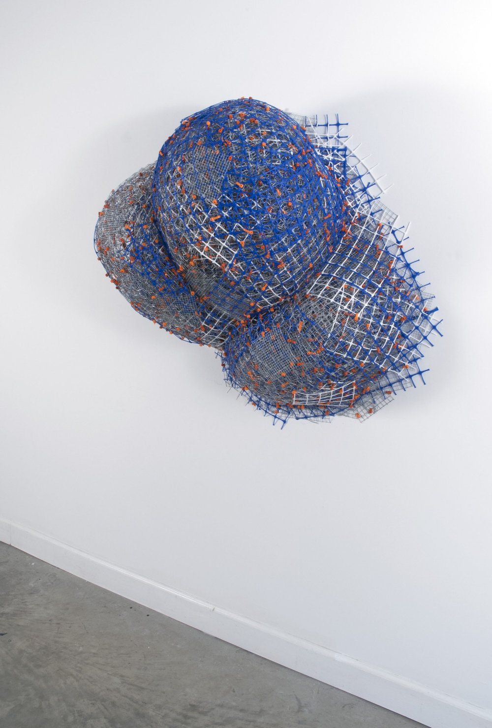 "Cheeky   plastic+metal fencing  36""x 36""x 18""  2013"