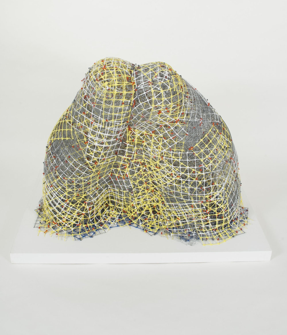 "Lick It   plastic+metal fencing  39"" x 40"" x 23""  2013"