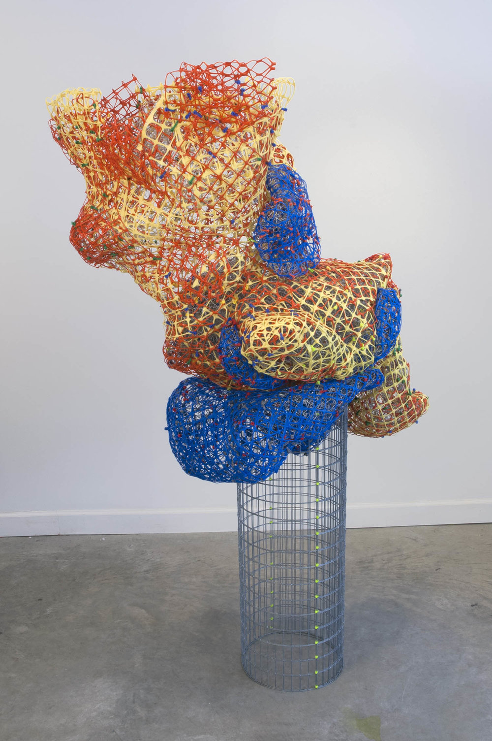 "Plastic Mounds   plastic+metal fencing  70"" x 45"" x 30""  2012"