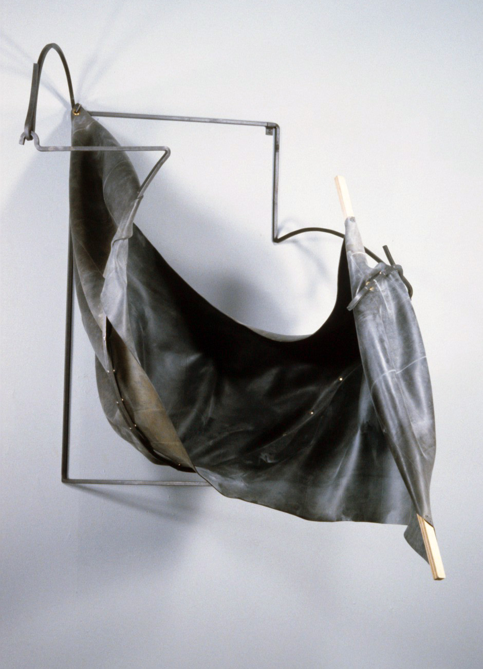 "Untitled 90.4   rubber+steel  62"" x 49"" x 53""  1990"
