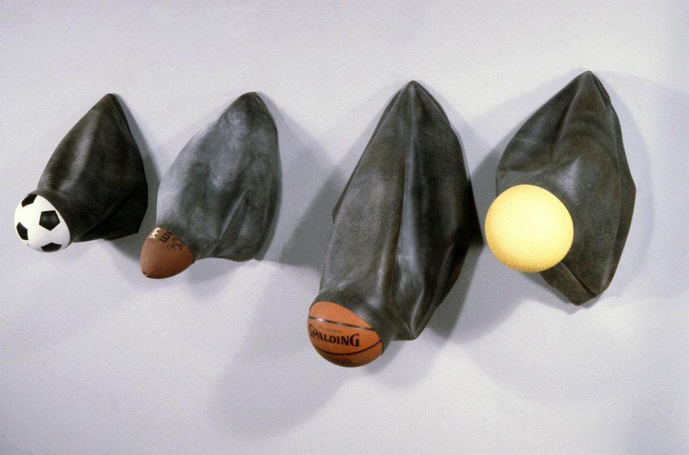 "Sports Balls   rubber  34"" x 60"" x 20""  1994"
