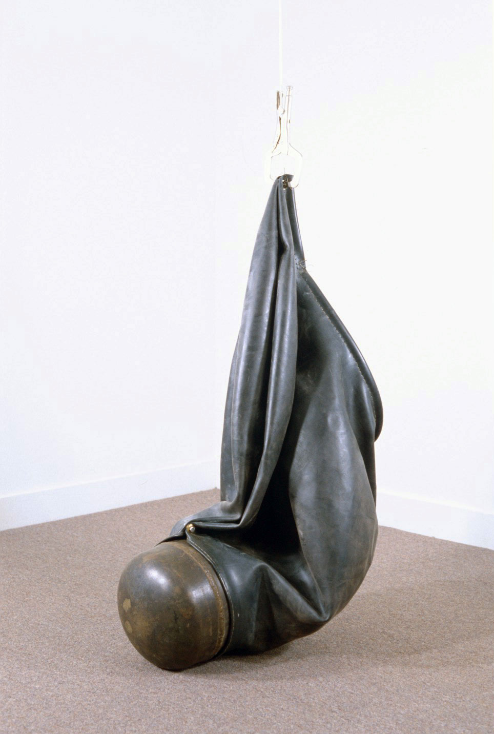 Untitled 95.3   1995  rubber and steel  48 X 27 X 32""