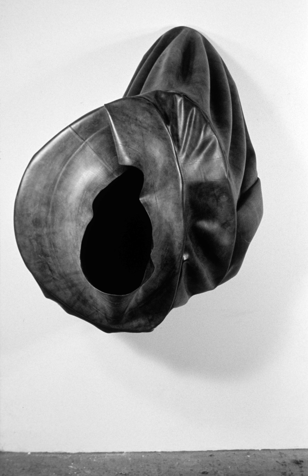 Black Hole   1988  rubber  and wood  56 X 48 X 51""