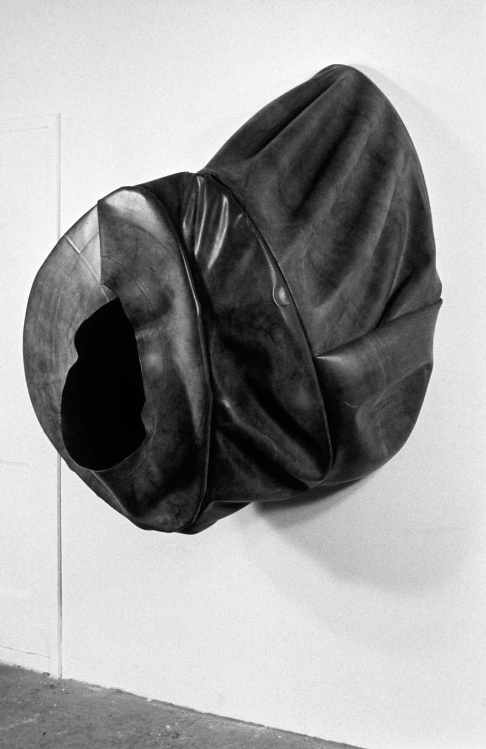 "Black Hole   rubber  56"" x 48"" x 51""  1988"