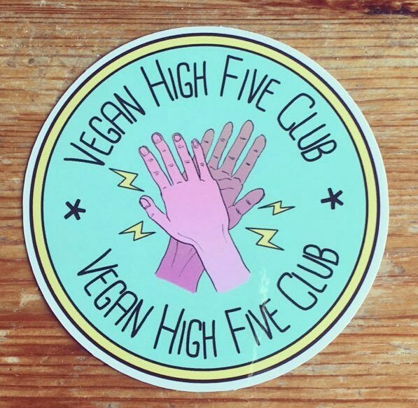 Vegan High Five Club - Vegan stickers and gifts