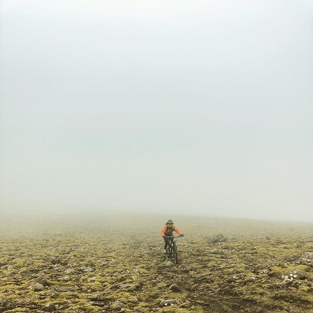 Many things live in the fog. #mtblife #mtbpictureoftheday #madeinmts #bellhelmets #mtbgirl #intensecycles #iceland #mountainbike #mountainbiking #mtb #mtbiceland