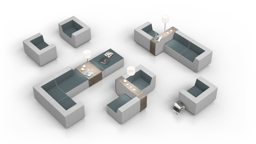 Gallery facility conceptual furniture design for Collection house contact