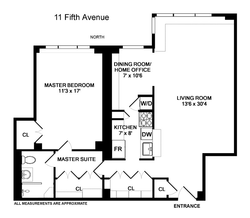 11 Fifth Avenue Apt. 9R Floor Plan