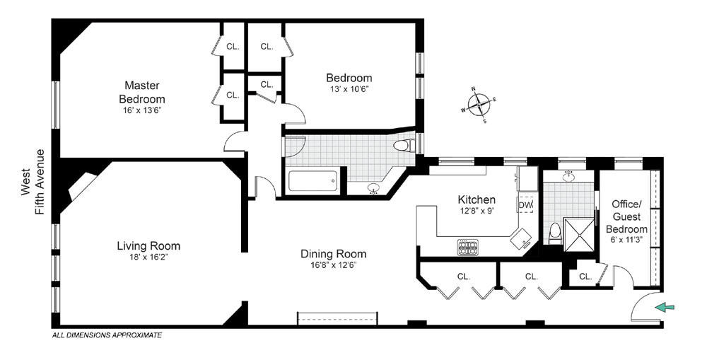 43 Fifth Avenue Apt. 10NW Floorplan